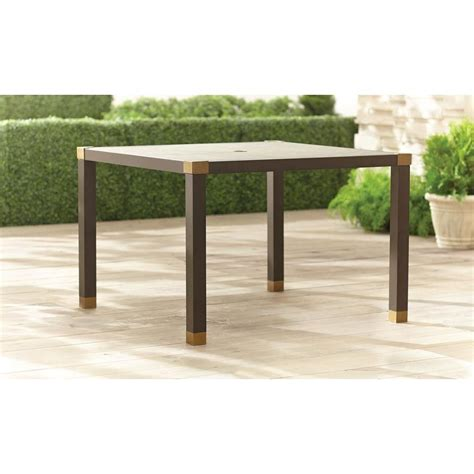 brown form 42 in square patio dining table