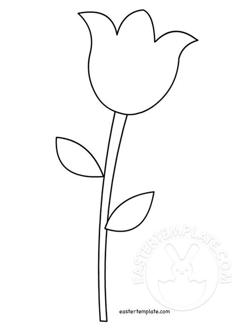 tulip template card tulip template printable easter template