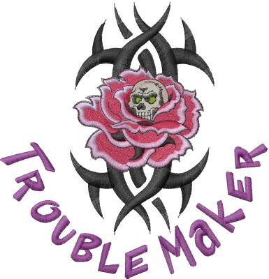 embroidery design creator trouble maker embroidery designs machine embroidery
