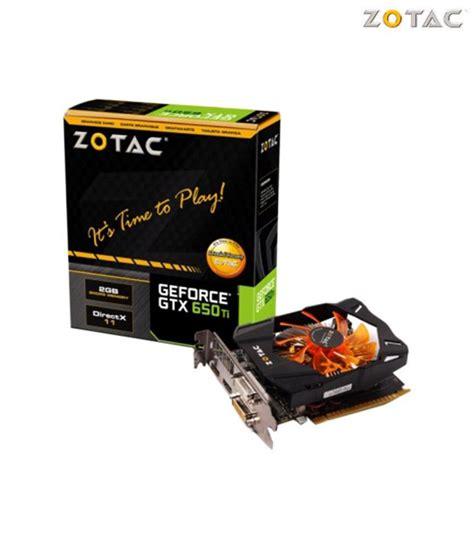 Gfx Card Zotac Nvidia Gtx 650 zotac nvidia gtx 650 ti 2gb ddr5 graphics card buy zotac nvidia gtx 650 ti 2gb ddr5 graphics