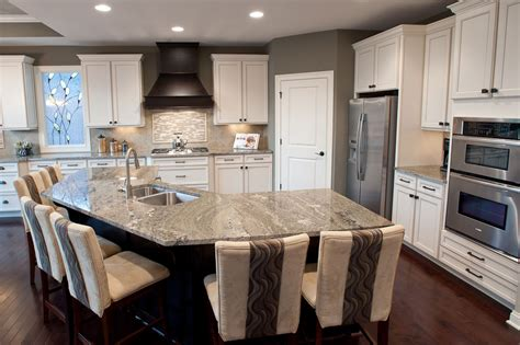 big kitchens with islands large island kitchen 64 deluxe custom kitchen island