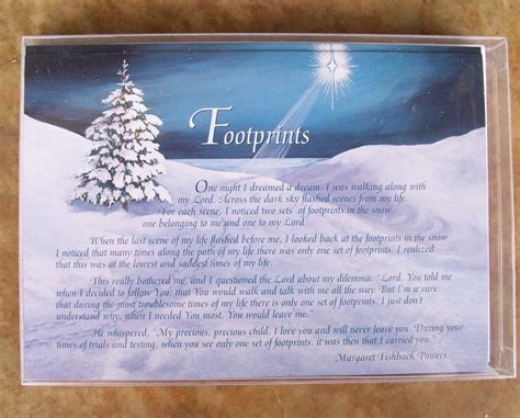 boxed christmas cards footprints leanin tree 10 cards