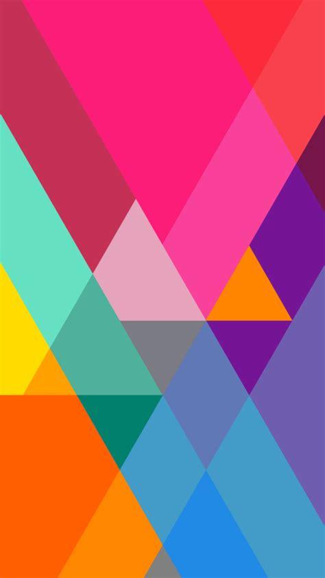 flat color gradient triangles wallpaper  iphone