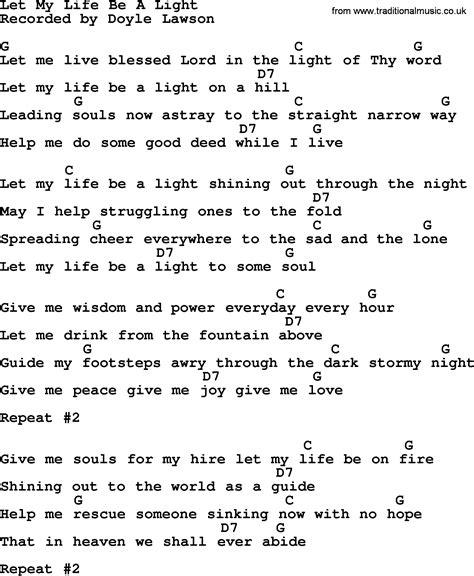let be a light bluegrass lyrics with chords