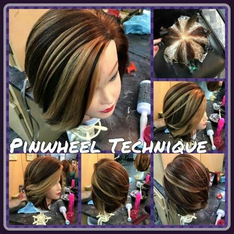hair color patterns pinwheel technique beautiful hair color by