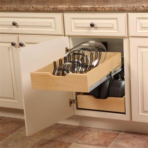 kitchen cabinet pots and pans organization 9 kevin amanda real solutions for real life 5 5 in x 15 3 in x 18 9 in