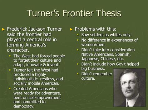 frederick turner thesis u s history chapter 15 looking to the west ppt