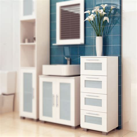 under sink storage cabinet with 1 compartment and 3 drawers under sink bathroom storage unit cabinet 3 drawers white