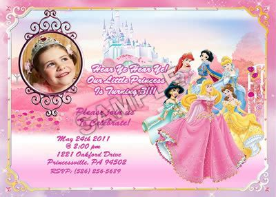 disney princess birthday invitation card maker disney princess birthday invitations cimvitation