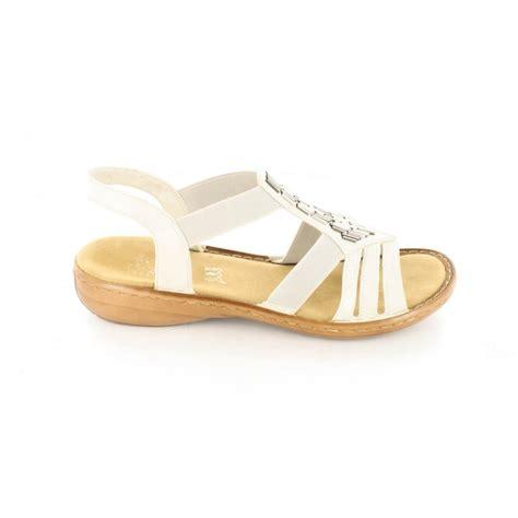 white sandals womens rieker 60800 80 white womens sandals rieker from