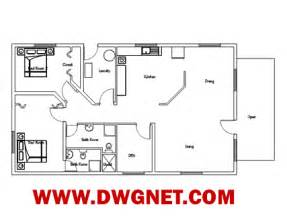 Small Single Story House Plans by One Floor House Plans Dwg Arts