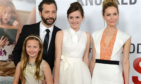 leslie mann children s names leslie mann and her director husband judd apatow are