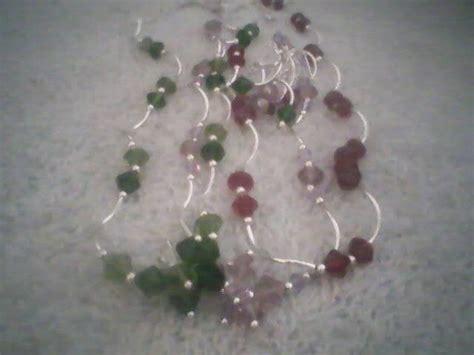 bisuteria con hilo tejido y cristal collar con cristal y tuvo de metal varios colores 35 00