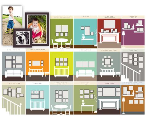 photo frame wall collage template simple wall display inspiration