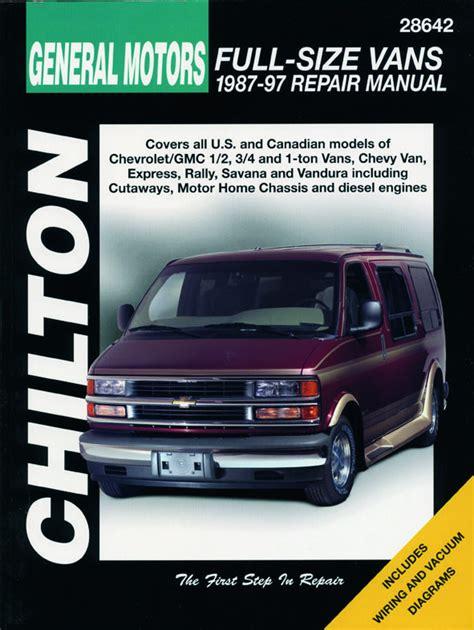 chevy express 1500 van haynes repair manual am autoparts chevrolet vans 1987 1997