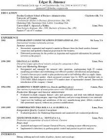 Exle Of Work Resume by Exles Of Resumes That Get