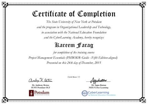 project management essentials certificate