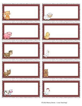 printable zoo animal name tags 17 best images about down on the farm on pinterest first