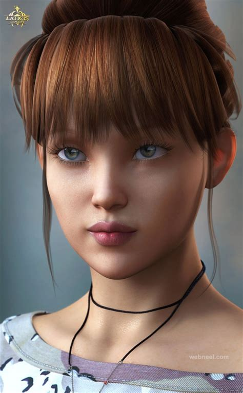 3d girls 25 awesome 3d models and girl character designs for your