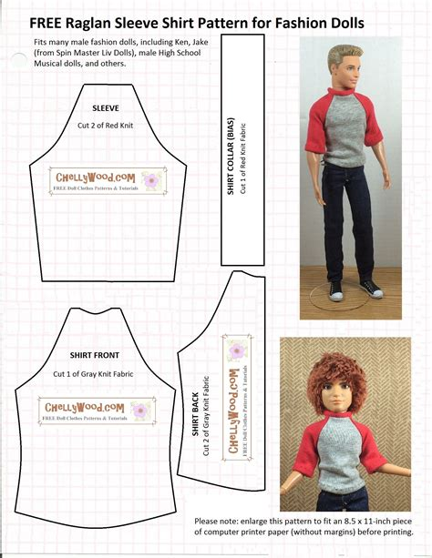 clothes pattern maker free ken doll patterns printable doll clothes patterns