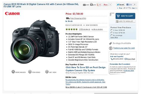 canon 5d iii best price canon 5d iii price drops by 349