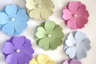 Handmade paper flowers in pastels die cut by summertimedesign