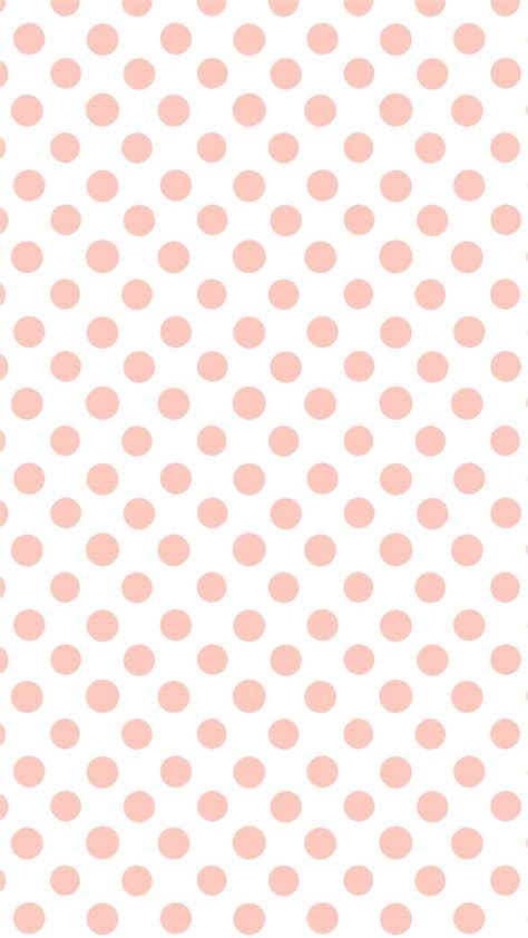 dot pattern screen lock for iphone white coral peach polka dots spots iphone wallpaper