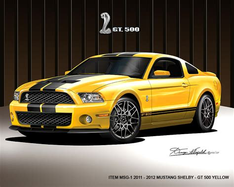 Mustang Auto Poster by Ford Mustang Shelby Car Print Poster By Danny Whitfield