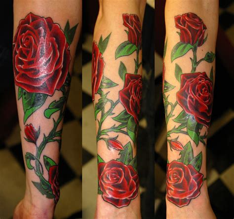 colored rose tattoos colored tattoos design idea