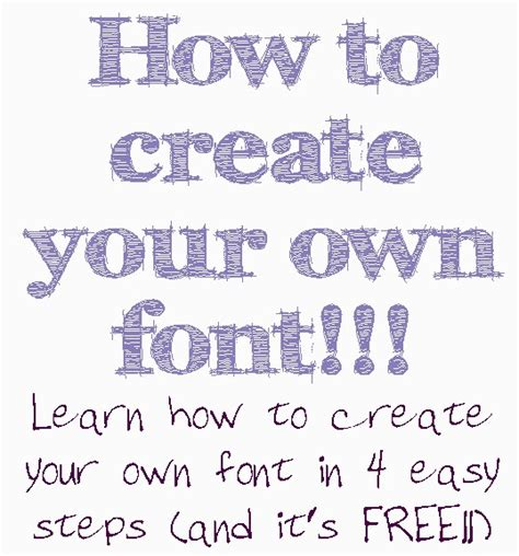 design own font free art blog for the inspiration place how to create your own