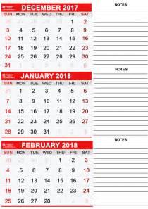 Calendar 2018 January And February Printable January 2018 Calendar Calendar Table Calendar