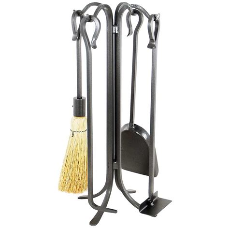 pictured is the 22 in shepherd s hook fireplace tool set