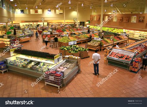 supermarket sections produce section of a large food supermarket stock photo