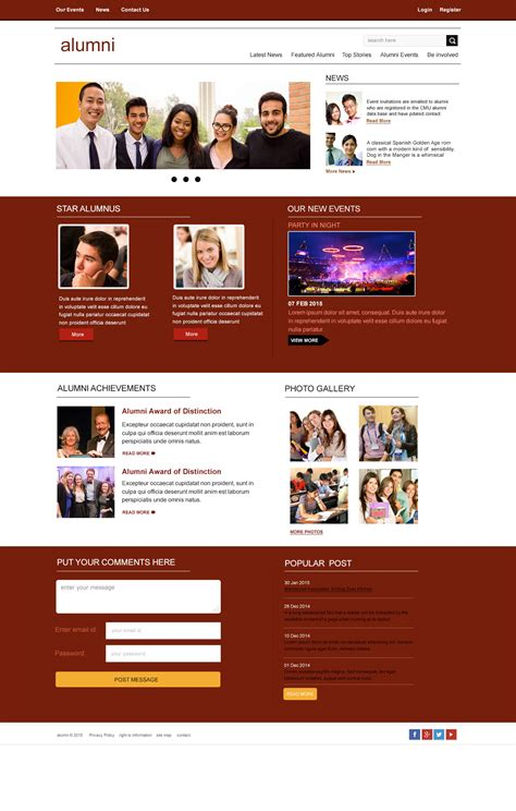 education psd templates free brochure template
