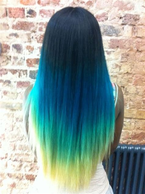 ombre hair different colors b e a u tiful