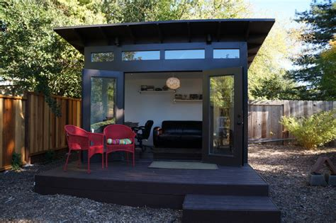 studio shed home office family room modern