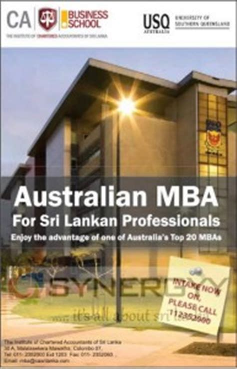 Mba Of Southern Queensland Australia by Of Southern Queensland Mba In Sri Lanka 171 Synergyy