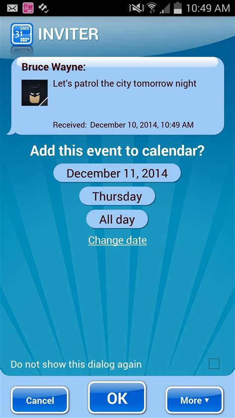 make calendar default samsung galaxy s3 automatically create calendar events from incoming text