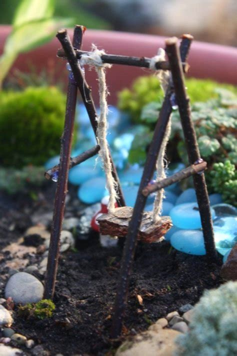 how to use a love swing how to make a fairy garden design dazzle