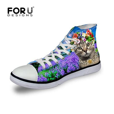 Shoes Canvas Animal forudesigns new shoes high top brand canvas