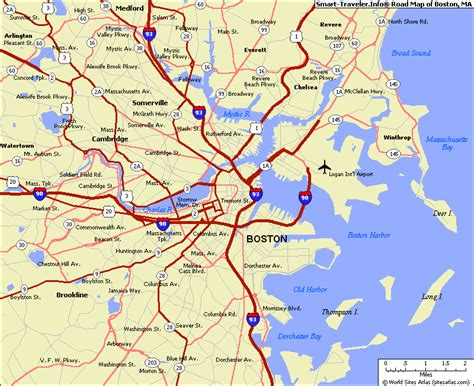 boston map usa an rambler american cities and the waterfront division