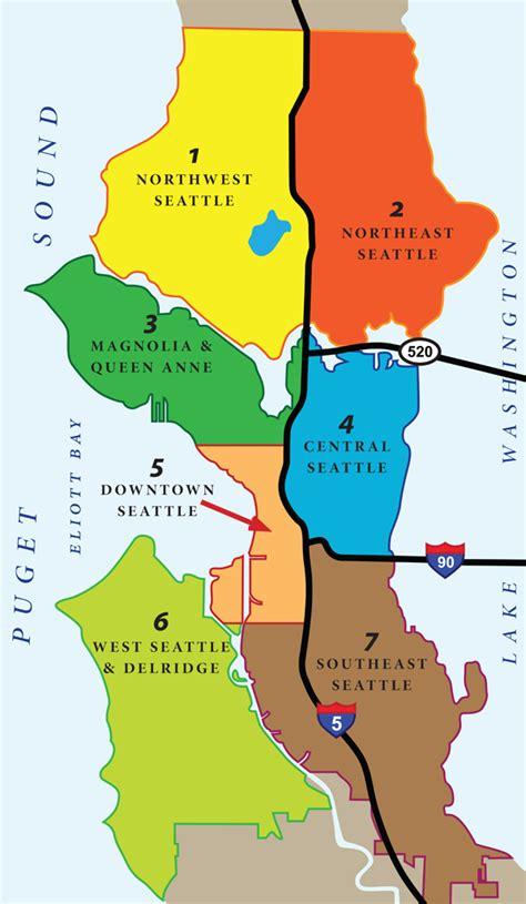 seattle map districts seattle neighborhoods megan kukull