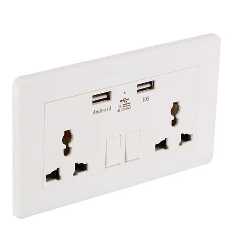 Usb Dual universal dual 2 usb electric wall power socket outlet