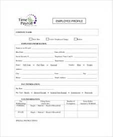 Employee Profile Template by Employee Profile Form Search Engine At Search