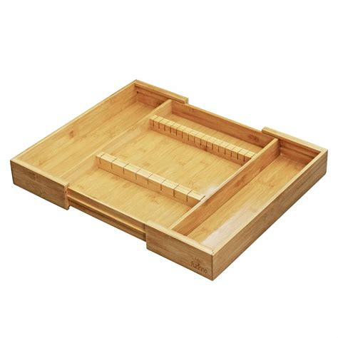 Home Depot Drawers by Furinno Dapur Bamboo Drawer Organizer With Cutlery