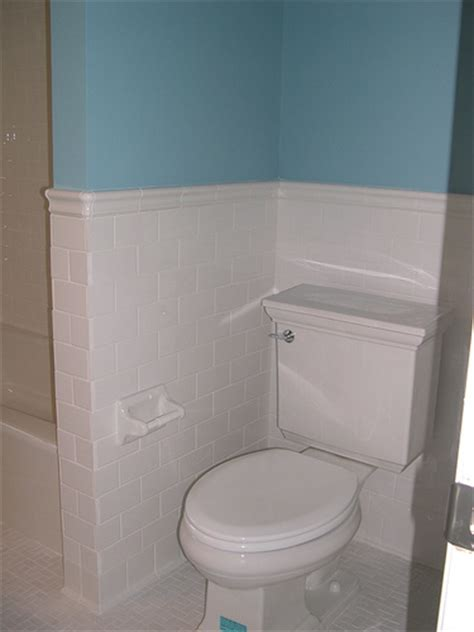 subway tile wainscoting bathroom subway tile wainscot flickr photo sharing