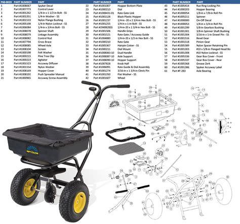 order parts for spyker p60 8020 spreader
