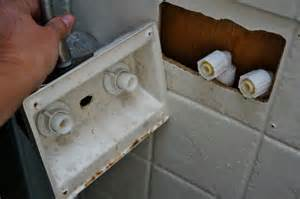 installing swanky new rv shower fixtures
