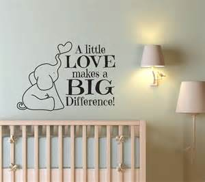 Wall decals for nursery a little love baby elephant decal wall