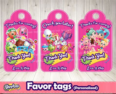 free printable birthday gift tags personalized shopkins favor tags personalized decorationsleon